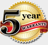 5 Year Warranty on Fabric Awnings